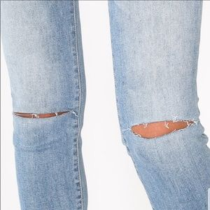 April Spirit Jeans - Distressed Denim Light Blue Jeans